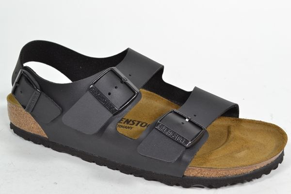 BIRKENSTOCK Sandaal Zwart heren (2.1.9.2.9 - MILANO) - West-End