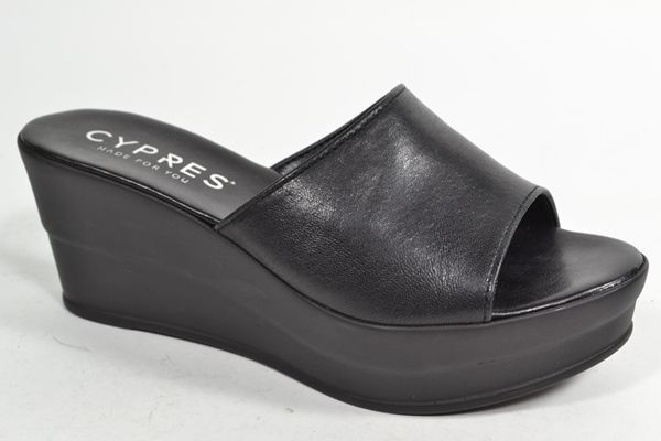 CYPRES Muil/Slipper Zwart dames (1.1.10.2.3 - 5400-1467HR) - West-End