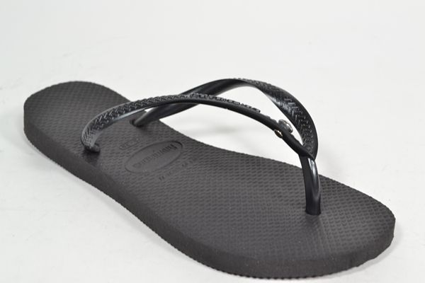 HAVAIANAS Muil/Slipper Zwart dames (1.1.10.7.1 - SLIM CRYSTAL GLAM) - West-End