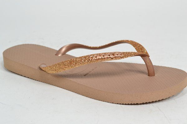 HAVAIANAS Muil/Slipper Brons dames (1.29.10.7.1 - SLIM GLITTER) - West-End