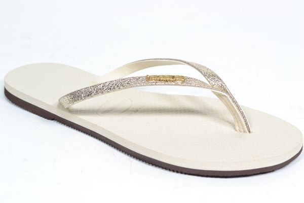 HAVAIANAS Muil/Slipper Goud dames (1.30.10.7.1 - YOU SHINE) - West-End