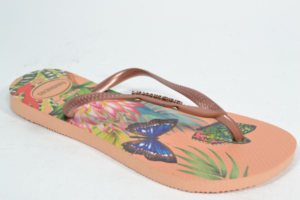 HAVAIANAS Muil/Slipper Multi dames (1.34.10.7.1 - SLIM TROPICAL) - West-End