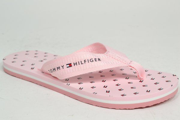 TOMMY HILFIGER Muil/Slipper Roze dames (1.27.10.6.1 - MINI FLAGS BEACH) - West-End