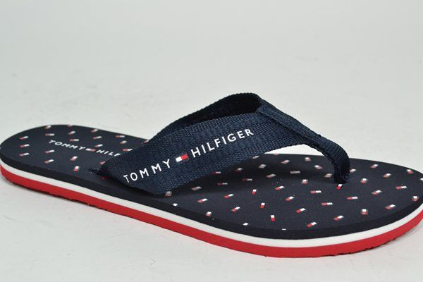 TOMMY HILFIGER Muil/Slipper Blauw dames (1.9.10.6.1 - MINI FLAGS BEACH) - West-End