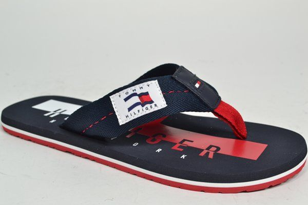 TOMMY HILFIGER Muil/Slipper Blauw heren (2.9.10.6.9 - TH BADGE BEACH) - West-End