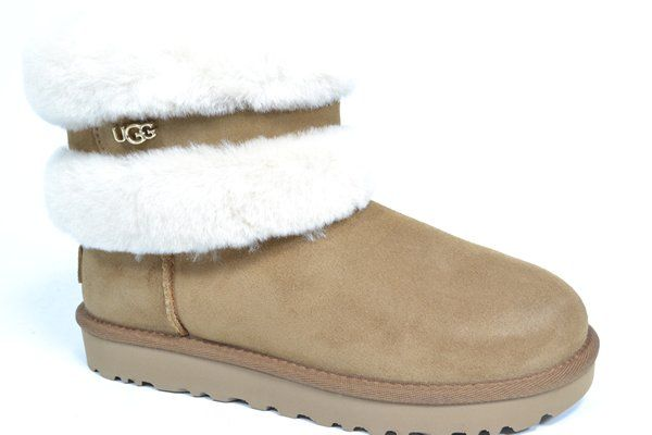 UGG AUSTRALIA Boots Cognac dames (1.3.6.1.1 - FLUFF MINI BELTED) - West-End
