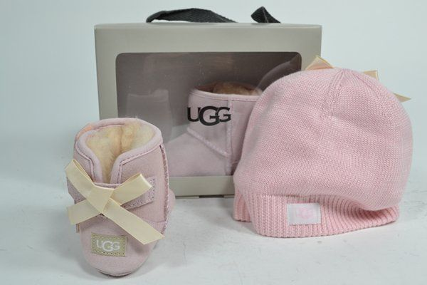 UGG AUSTRALIA Boots Roze kinderen (3.27.6.1.1 - JESSY BOW&BEANIE) - West-End
